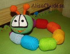 DIY Kinder Egg Caterpillar Crochet - http://www.ruchnoi.ru/statya/veselaya-gusenitsa-kryuchkom
