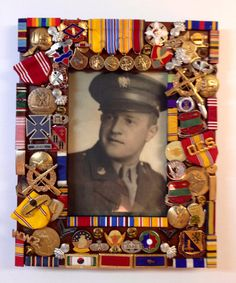 Military Frame, Military Gift, Gift for Military Man, Frame with Military Medals, Military, 5x7 Photo Frame, Frame for 5x7 Military Photo