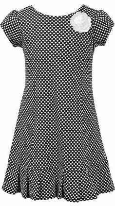 807a24c99fa Amazon.com  Black White Pleated Hem Dot Print Knit Sheath Dress BW5MT
