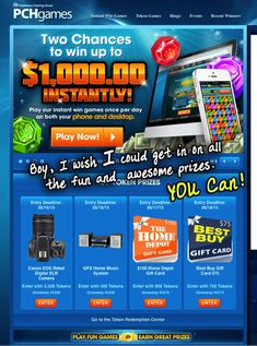 PCH games is where you can find awesome prizes & possibly relief to get a cell phone so you CAN download some of the games to win even more. :)