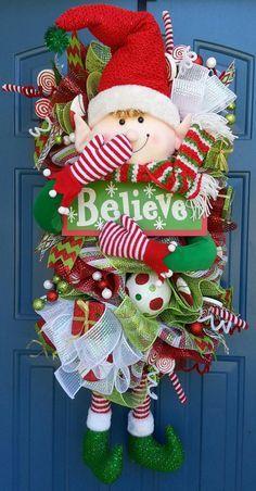DIY elf wreath - simply adorable