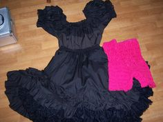 4 peice Square Dance Can Can outfit Skirt by Traincasesandmore, $75.00