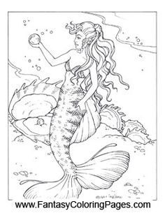 fantasy coloring pages ? world's best coloring pages - mermaids ... - Coloring Pages Pretty Mermaids