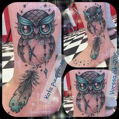 https://www.facebook.com/VorssaInk/, http://tattoosbykata.blogspot.com, #tattoo #tatuointi #katapuupponen#vorssaink #forssa #finland #traditionaltattoo #suomi #oldschool #pinup #owl #dreamcatcher
