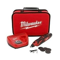 Milwaukee - Portable and Cordless Lithium-Ion M12TM Rotary Tool Kit / Set (Battery Powered) -- Check out the image by visiting the link.