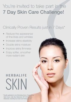 Ladies are always looking for the NEXT BIG Skin care product that promises clearer, yet younger looking skin! Well look know further Herbalife has the best Skin line on the Market!! Herbalife has a 7 day Skin trial, stop looking and start noticing a difference in 7 day! www.goherbalife.com/samanthabarber