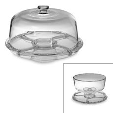 This looks so useful! Cake stand, punch bowl, veggie plater, etc - all in one! Home Essentials in Footed Cake Dome Cake Stand With Dome, Cake Dome, Cake Stands, Easy Pie, Veggie Tray, Cake Plates, Glass Domes, Kitchen Gadgets, Kitchen Appliances