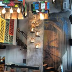 Metal curtains by KriskaDECOR for decor Boteco. A bar in Greece. #design #interior #contract