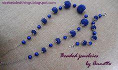 Гарненькі бісерні штучки | Beaded jewelries by Annette: Променисто-синій вечір