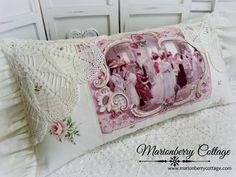 Романтический викторианской Soiree кружева и вязания крючком подушка