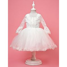 Sweet Half Belt Sleeve Tulle & Lace Wedding/Evening Flower Girl Dress – USD $ 49.99