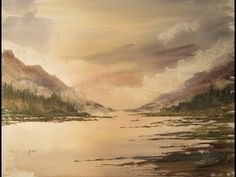 Watercolour painting from my imagination - YouTube
