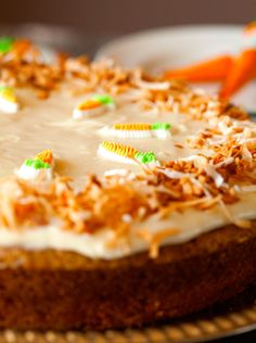 Scrumptious Carrot Cake with Cream Cheese Frosting by Deliciously Yum!