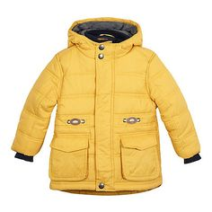 From bluezoo's fantastic range of children's clothing, this coat is ideal for keeping cosy and warm this season. Designed with a padded finish, it features a soft fleece lining on the hood and quilted lining.
