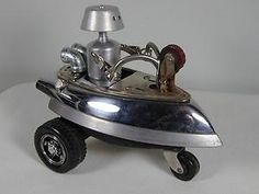"""""""COSMIC TRICYCLE"""" Found Object Robot Sculpture Assemblage $139.00 by aurora"""