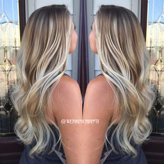 Ash blonde Balayage ombré. Perfect hair. Hair color. Hairstyles