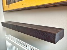 I stared at the empty and unused space just above the radiator and realised I had some scrap material that would be perfect for a shelf. Heat Gun, Scrap Material, Drilling Holes, Wall Plug, Central Heating, A Shelf, Floating Shelves, Shed, About Me Blog