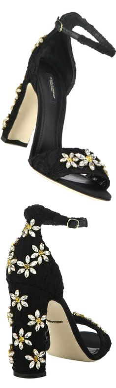 Dolce & Gabbana Daisy Embellished Lace Sandals