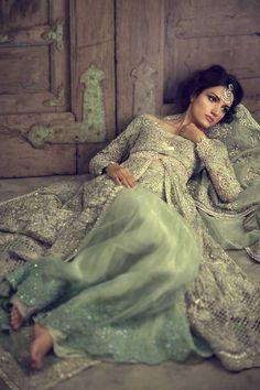"highfashionpakistan: "" Pakistani model Meera Ansari posing for Elan Bridals. """