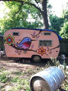 Adorable mural on this camper!