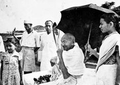 The Mahatma on his birthday in 1944 at Pune