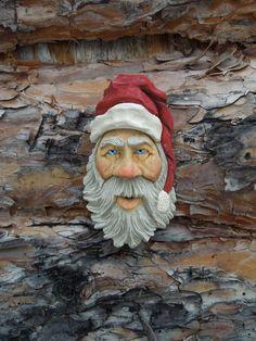 Wood Carving St. Nick Santa Claus Christmas Long Hat Ooak Elf Scott Longpre #FolkArt