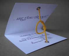 Save the date idea- tying the knot