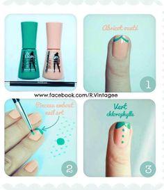 blouse nail art