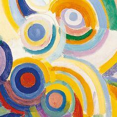 "Robert Delaunay ""Portuguese Woman"" (detail)"