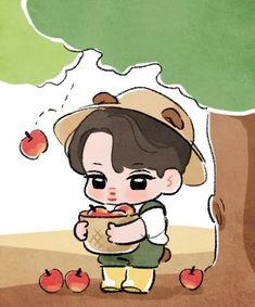 Kai Arts, Exo Stickers, 5 Years With Exo, Exo Anime, Exo Fan Art, Exo Kai, Kpop Fanart, To My Future Husband, Cute Drawings