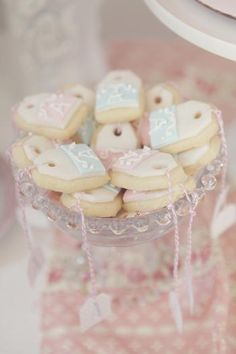 """""""Tea Bag"""" Sugar Cookies for a Shabby Chic Baby Shower- so cute! @HUGGIES Baby Shower Planner Baby Shower Planner Baby Shower Planner Baby Shower Planner"""
