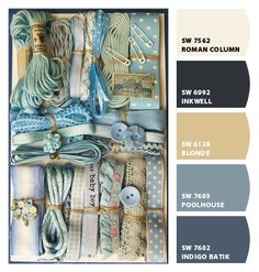 Paint colors from Chip It! by Sherwin-William--blues, browns