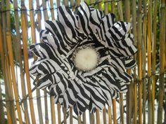Zebra Hair Clip by ang744 on Etsy, $5.00