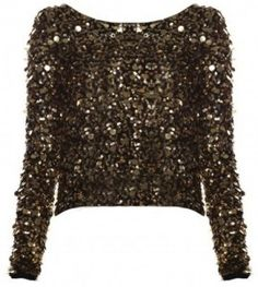 Loving this Alice & Olivia Sequined Crop Top