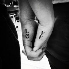 matching tattoo...this might be stupid in the long run, but it's cute