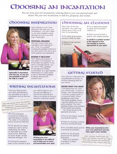 Choosing an incantation  I find these to be a bit funny. But there are some folks out there that these will help. DIY instructions for folks who want to work magick.