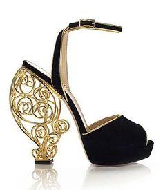 Wire Heel Platform Sandals