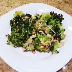 This roasted broccoli recipe, adapted from the Barefoot Contessa, is really wonderful.  It has a lot of flavor.  We served it with a mild pasta, and it was just a wonderful combination.  Don't be worried by the lemon juice and zest.  They impart a subtle flavor that adds a nice dimension to this dish.