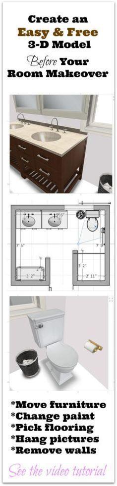 Best Bathroom HELP Images On Pinterest Bathroom Bathrooms - Bathroom renovation planning tool