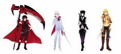 RWBY WAS SO MUCH WIN. So I finally did Blake to complete my set of RWBY genderbends. And then I compiled them into one image. and I think they look kinda too fancy for battle LOL characters b. Rwby Genderbend, Rwby Fanart, Rwby Anime, Rwby Ozpin, Rwby Cosplay, Male Cosplay, Rwby Rose, Rwby Blake, Rwby Ships