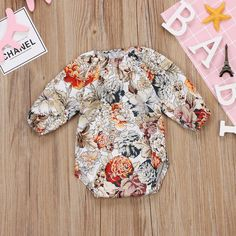 ab907d5c2874 Newborn Kids Baby Girls Clothes Floral Retractable Elastic Bodysuit Fall  Romper tag: 70/06 Months Yellow -- Click image for more details.