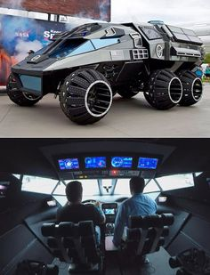 Stephen Colbert Drives the NASA Mars Rover With Neil deGrasse Tyson Custom Trucks, Custom Cars, Cool Trucks, Cool Cars, Armored Truck, Bug Out Vehicle, Terrain Vehicle, Weird Cars, Best Luxury Cars
