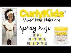 Spray N Go w/CurlyKids Mixed Kids Hair Care Custard For Kids | Kids Natural Hairstyle | IAMAWOG - YouTube