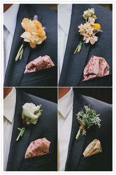 boutonnieres & pocket squares