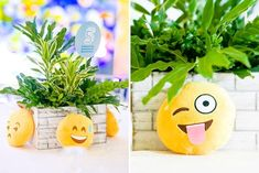 Adam's Emoji-fied Themed Party – Table setup Emoji Theme Party, Party Themes, Party Ideas, Adam S, Different Games, Kid Table, Heart For Kids, 1st Birthdays, Balloon Decorations