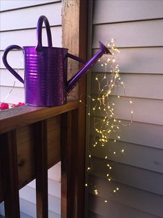 Solar fairy light watering can!! By Homespun by Roxane