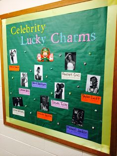 Celebrity Lucky Charms Bulletin Board