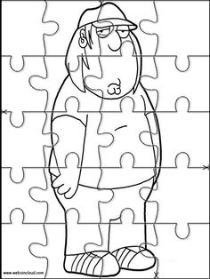 printable jigsaw puzzles to cut out for kids family guy 4 coloring pages - Family Guy Coloring Pages