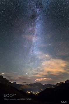 Milky way over Cortina  La Via lattea boreale con la galassia di Andromeda e le Plejadi domina il cielo di Cortina d'Ampezzo  Camera: Canon EOS 6D  Follow on Instagram: http://ift.tt/2drRvK7 Website: http://ift.tt/1qPHad3 and read how to see the Milky Way. Image credit: http://ift.tt/2dHQuTb  #MilkyWay #Galaxy #Stars #Nightscape #Astrophotography #Astronomy