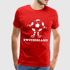 Switzerland Suisse Soccer Ball Sports World Cup  - Men's Premium T-Shirt